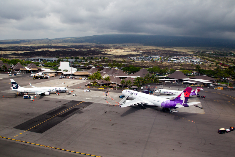 Kona Airport is a hub for Mokulele Airlines